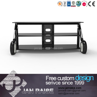 Luxury tv stand tempered frosted glass tv stand