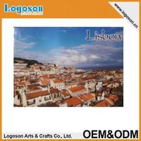 2015 hot tourist gift custom photo tin magnet Lisbon Portugal Fridge magnet