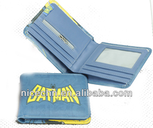 2014 high quality PU batman full color printing wallet