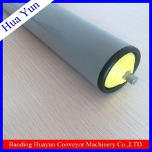 PVC pipe spring loaded roller for airport luggage handling