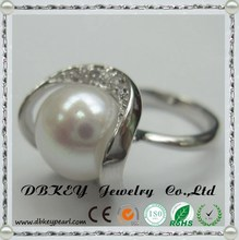 Foreign jewelry manufacturers wholesale mixed pearl sliver ring AAA