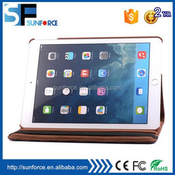 Smart PU leather case with built-in stand plaid pattern for ipad 6/air 2