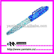Rhinestone Crystal Bling pen Glam Bedazzled Studs Retractable Ball Point Pen