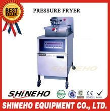 P012 Advanced Restaurant Equipment Suppliers Stainless Steel Professional Electric Chip Pressure Fryer