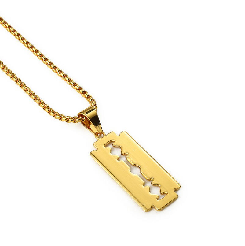 Gold  Razor Blade Pendant Necklace GN03010G01 (1).jpg