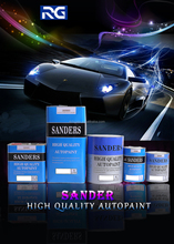 Good Coverage 1K Car Paint Solid Colors Easy To Spray
