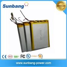 customized super thin 284078 lithium polymer battery 3.7v 900mah li-ion battery