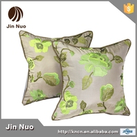 JINNUO 2015 luxury emboridery imitated silk fabric cushion for hotel home restaurant