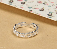 Ladies Nice Ring 925 Sun Silver Ring, Hypoallergenic Hollow Heart Value 925 Silver Ring