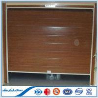 Single panel wood look garage door with PU inside   Insulated sectional garage door