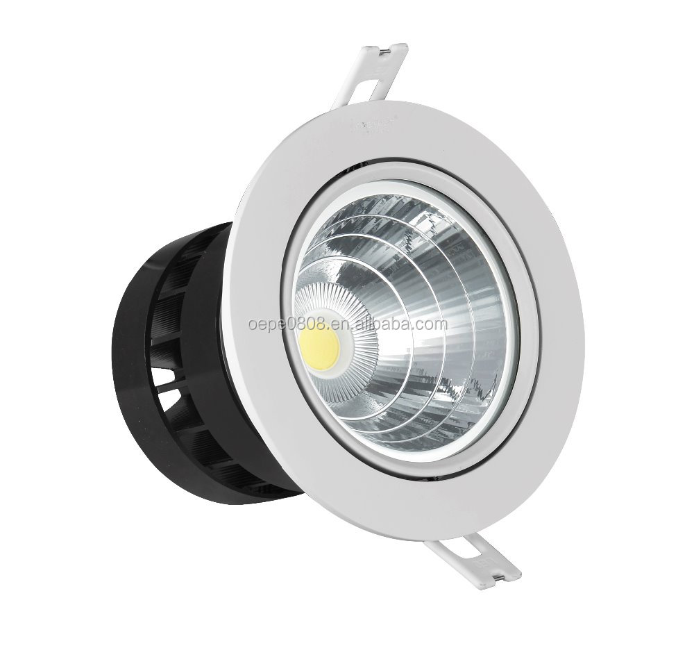 Ip65 Led Shower Lamp Waterproof Led Ceiling Spolight Hole 140mm Led Ceiling Spot Light Ac85 265v