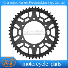 motorcycle parts 44T/47T/49T/51T aluminum rear sprocket for suzuki DR250 DR350 DRZ400 RM125 RM250
