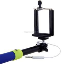 2015 promotional cheap wired selfie stick extendable baton