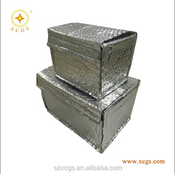 Bubble Insulated boxes, aluminum foil thermal cover, food insulated boxes