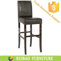 High Quality Modern Dining Set with PU Leather Fabric High Chair /Wooden Dining Chair