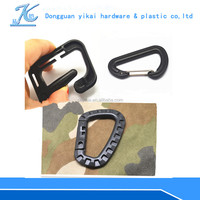 New shaped large plastic spring snap hook,climbing carabiner for keychain,mini carabiner wholesale