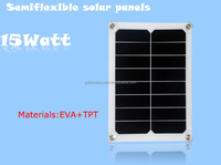 Hot selling!!! High Efficency Semi-flexible Solar Panel 15W With Sunpower Cells for mobile phone, tablet etc.