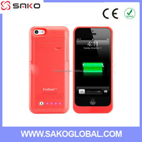 NEW 2200MAH Backup Battery Power Bank Charger Case for iphone5 5s 5c