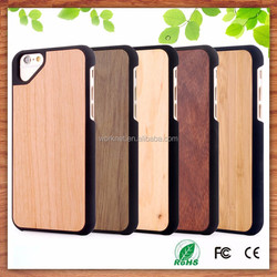 New product smart phone case custom wood hard case for iphone 6 china bamboo wooden phone case manufacturer