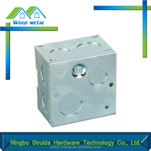 Made in China alibaba manufacturer new design metal outlet box