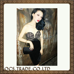 2015 knitting black sexy party dresses women 2015