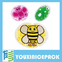 Children's Reusable Hot & Cold Heat Ice Gel Bead Pack for First Aid Bruise Sooth
