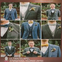 Popular men three piece suits blue suit pant coat advanced tailor custom suit