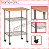 kitchen wire storage rack/ kitchen Commercial-Grade Utility Cart/