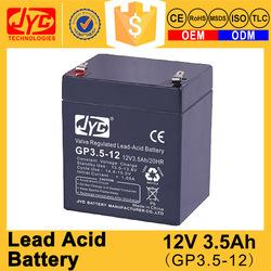 CE MSDS approved new arrival ups lead acid battery 12v 3.5ah