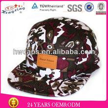 Leather label vans floral print coral 5 panel hat
