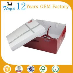 Recycled materials folding cardboard cake box