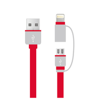 Power4 MFi 2 in 1 8pin cable with Micro USB, MFi cable for iPhone6 and Android smartphones. MFi factory Wholesale price