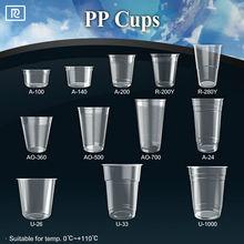 T-PP1- PP 3oz 4oz 6oz 9oz 12oz 16oz 23oz 24oz 26oz 33oz logo custom printed disposable transparent plastic cup