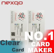 Gold Supplier PVC fashion printing transparent business card with smart chip