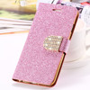 For iPhone 6 Case Luxury Glitter Bling Crystal Diamond PU Leather Wallet Case For Apple iPhone 6 4.7 inch With Card Slots Cover