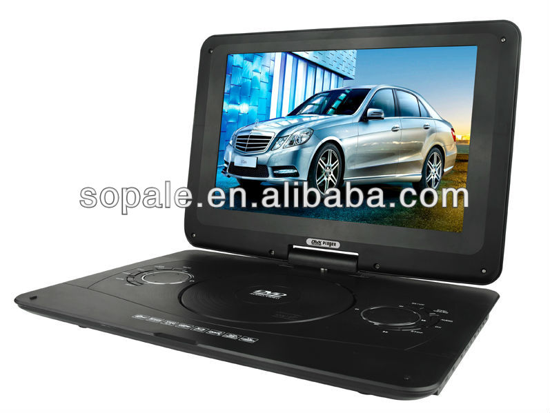 Large Screen Portable : Inch large screen portable dvd player with hd jack vga
