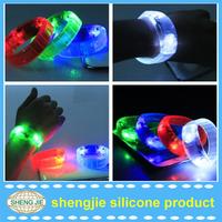 Hot selling Unisex decorations durable motion activated LED bracelets logo printed led bracelets