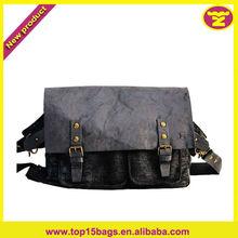 Double Pocket Buckles Teens Side Bag School Bag