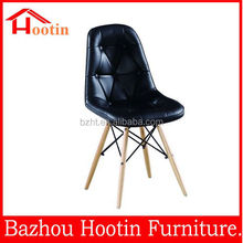 2015 colourful plastic dining chair with solid wood legs for dining room / out door used