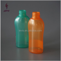 Unique colored 68ml cosmetic plastic packaging bottle for shampoo