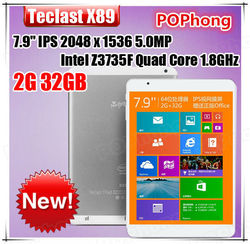 7.9'' 2048*1536 Teclast X89 32GB Dual OS Boot Windows8.1 Android 4.4 Tablet PC 2GB RAM Intel Quad Core