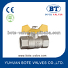 BT1017 aluminum butterfly handle Brass gas ball valve , brass water ball valve