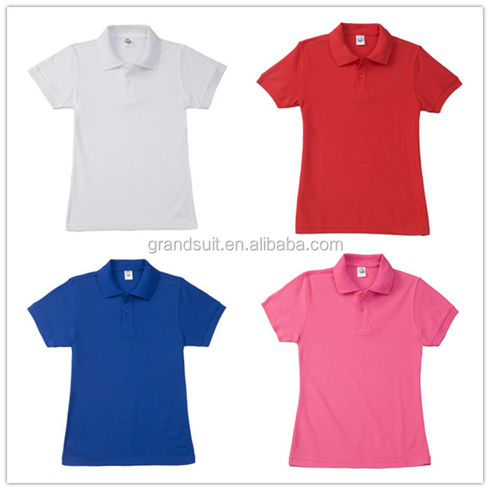 Customize women 39 s office uniform design high quality polo for Polo shirt uniform design