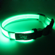Custom made wholesale led pet collar and leash with CE authentication