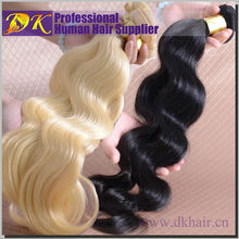 "12"" to 30"" Inch 613 Blonde Brazilian Hair Weft,DK Wholesale Black Hair Products,Ombre Color Human Hair Weft"