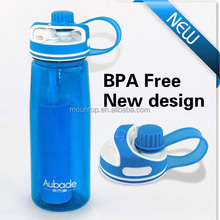2015 ECO friendly customized Bpa free weak alkalina plastic mineral drinking water filter bottle manufacturing in China