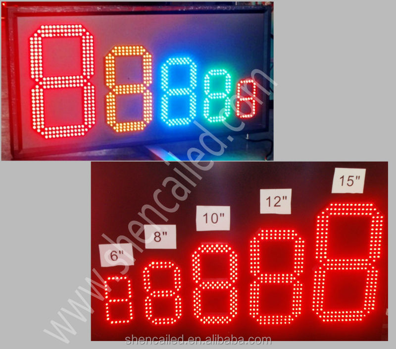 33inch yellow outdoor digital temperature controller led display