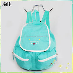 2015 green canvas Backpack, School Backpack , cheap girls school backpacks,cute canvas school backpack