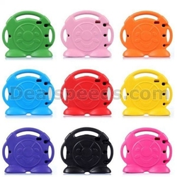 Cute Smiling Face Shockproof Stand Foam EVA Case for iPad Air 2 with Handle
