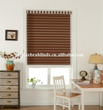 Basic color slat style black out zebra blinds rainbow blinds